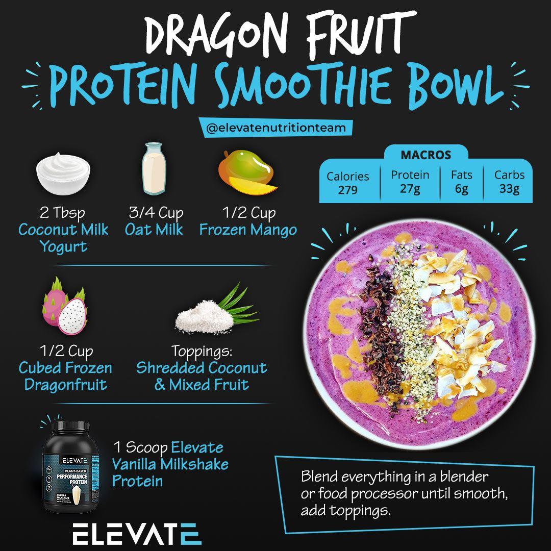 Dragon Fruit Protein Smoothie Bowl Elevate Nutrition
