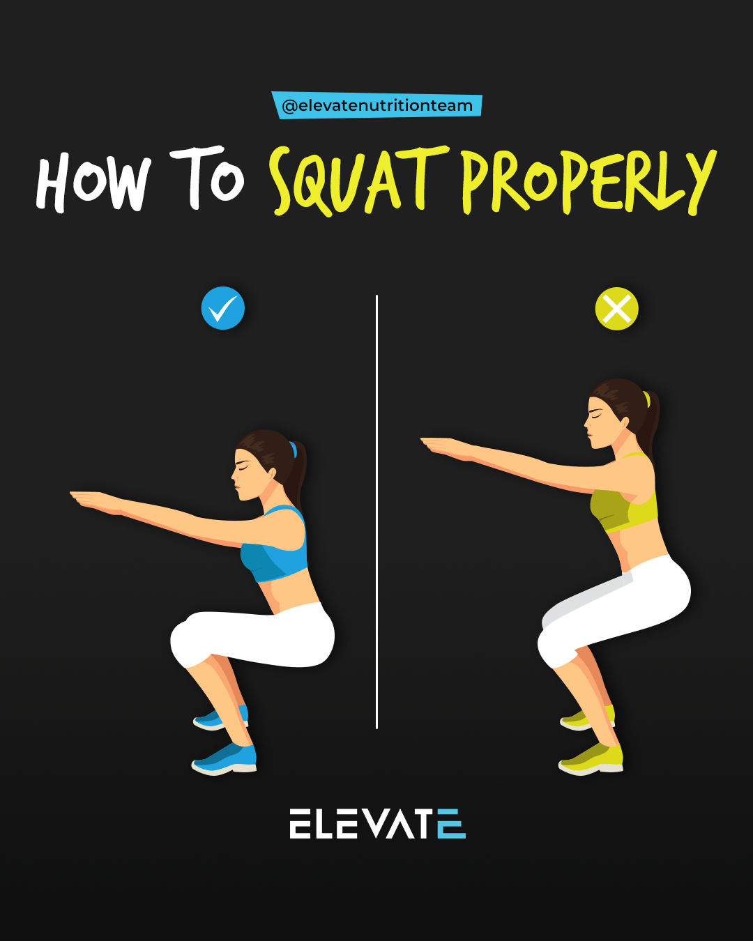Elevate Nutrition Squat Guide How to Squat Properly
