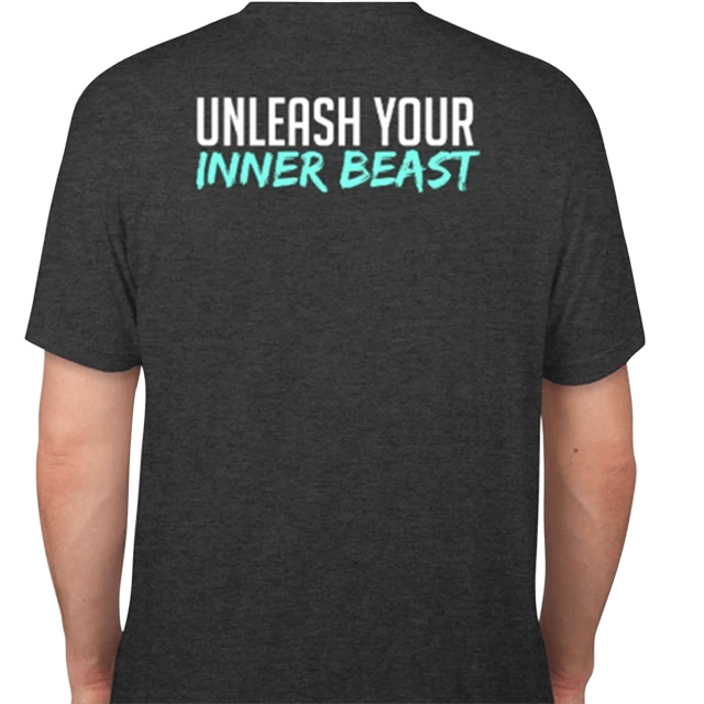 Elevate unleash your Inner Beast T Shirt Back 71319 large
