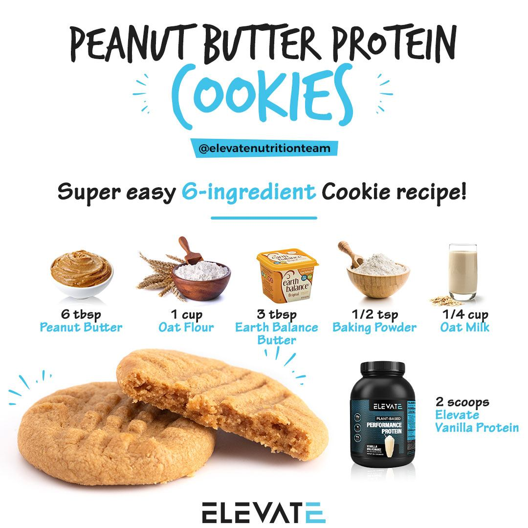 Peanut Butter Protein Cookies Elevate Nutrition