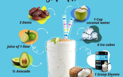 Plant-Based Coconut Lime BCAA Smoothie