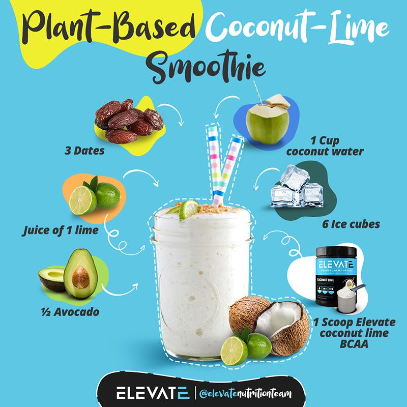 Plant Based BCAA Coconut lime Smoothie Recipe