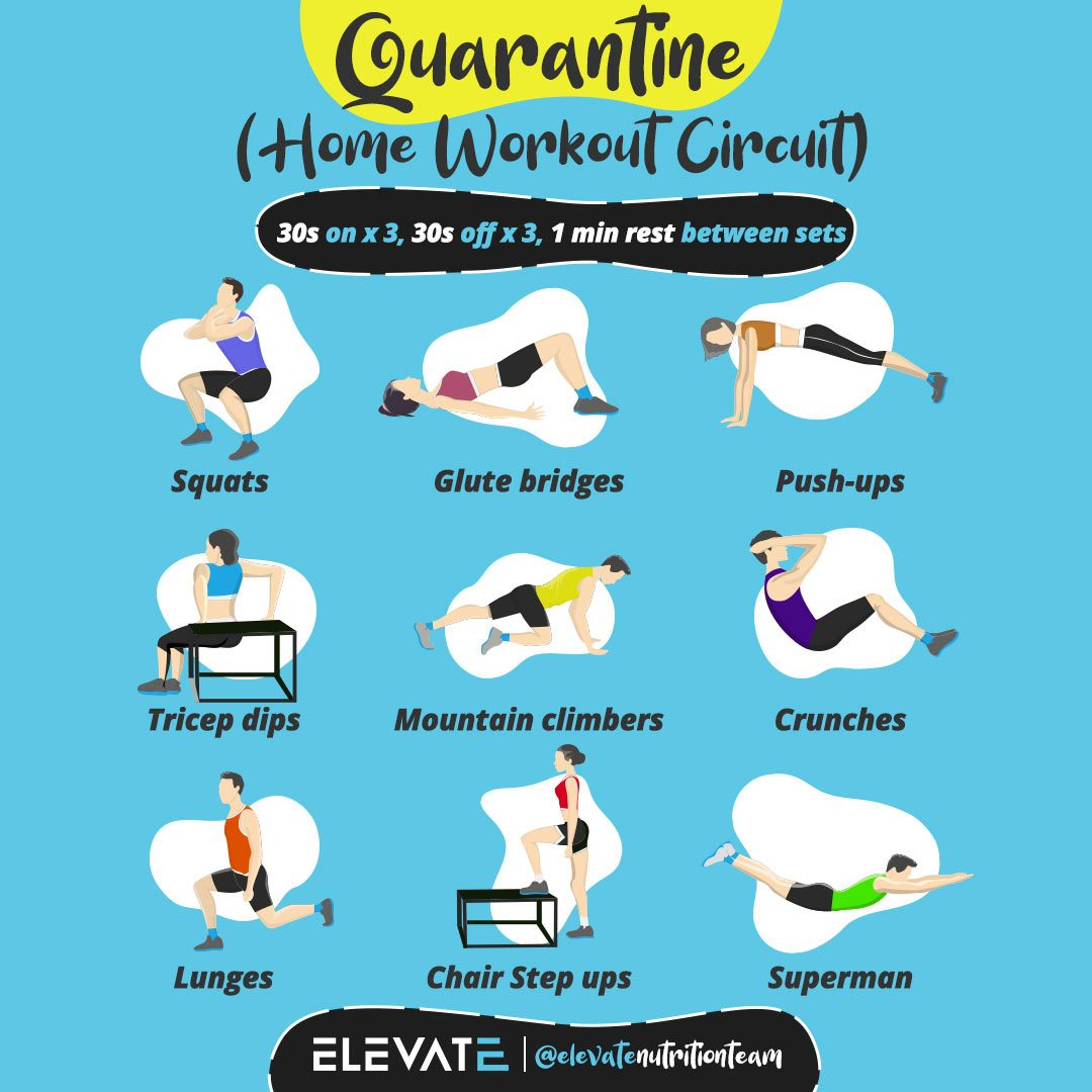 Quarantine Home Workout Circuit Elevate Nutrition web