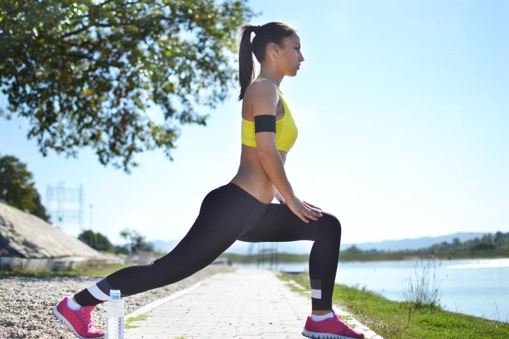 beautiful vegan fitness woman