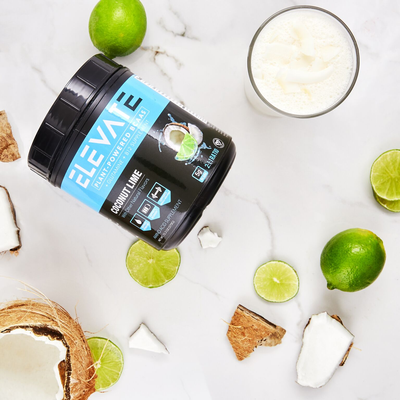 coconut lime plant based bcaa pop up