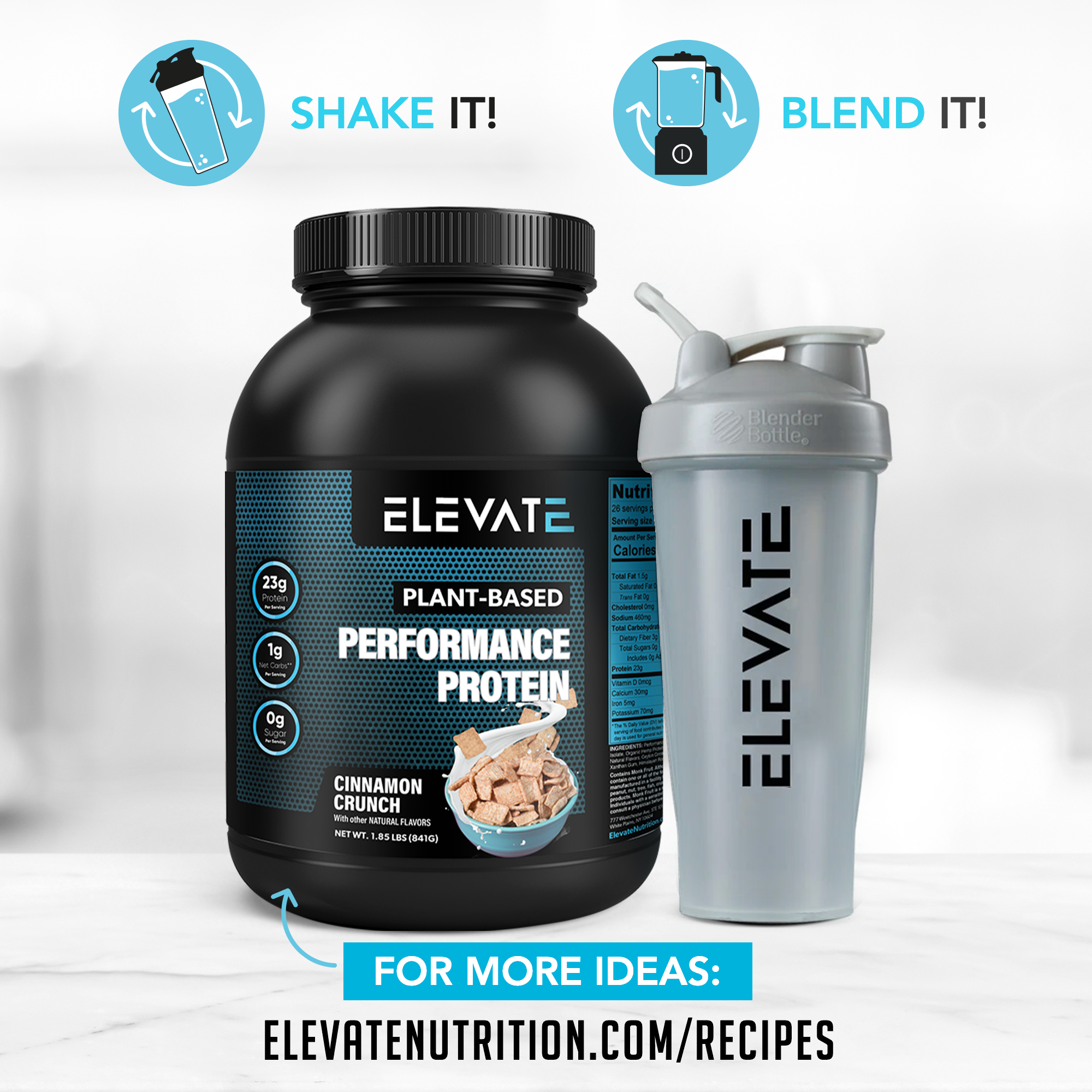 create-shakes-and-recipes-using-elevate-vegan-cinnamon-crunch-protein-powder