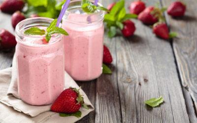 Strawberry Milkshake Protein Smoothie