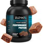 plant based chocolate brownie protein powder by Elevate Nutrition