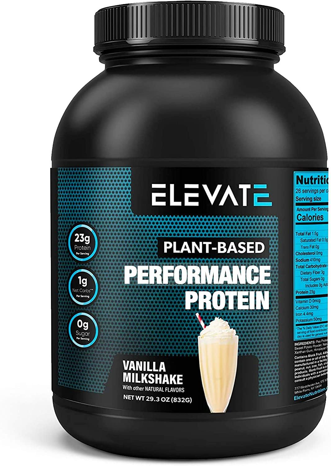 plant based chocolate vanilla milkshake powder by Elevate Nutrition 1