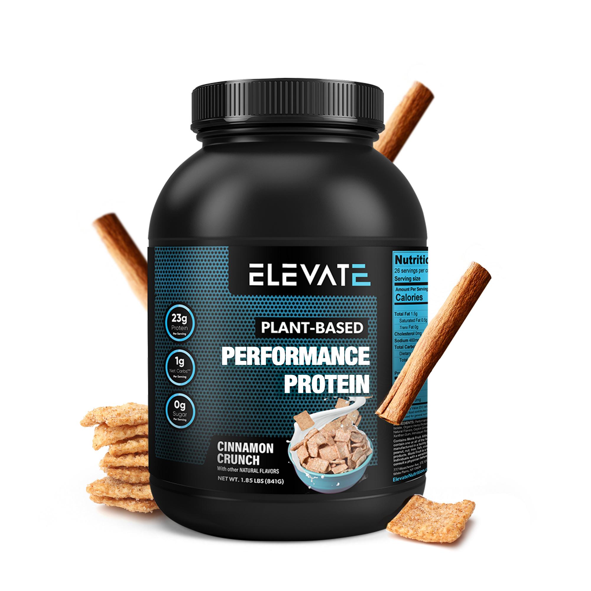 plant-based-cinnamon-crunch-protein-powder-by-Elevate-Nutrition