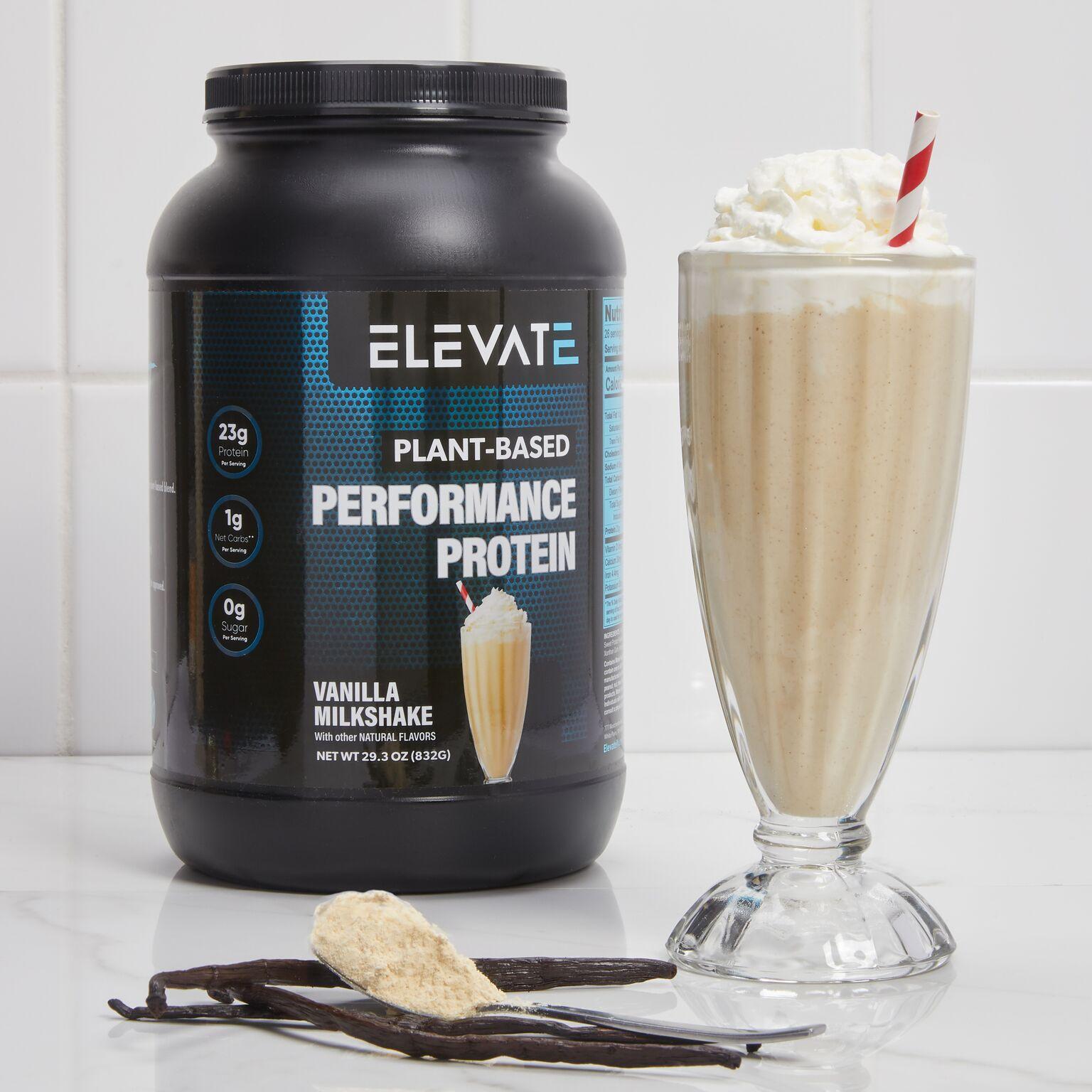 plant based performance protein vanilla milkshake pop up