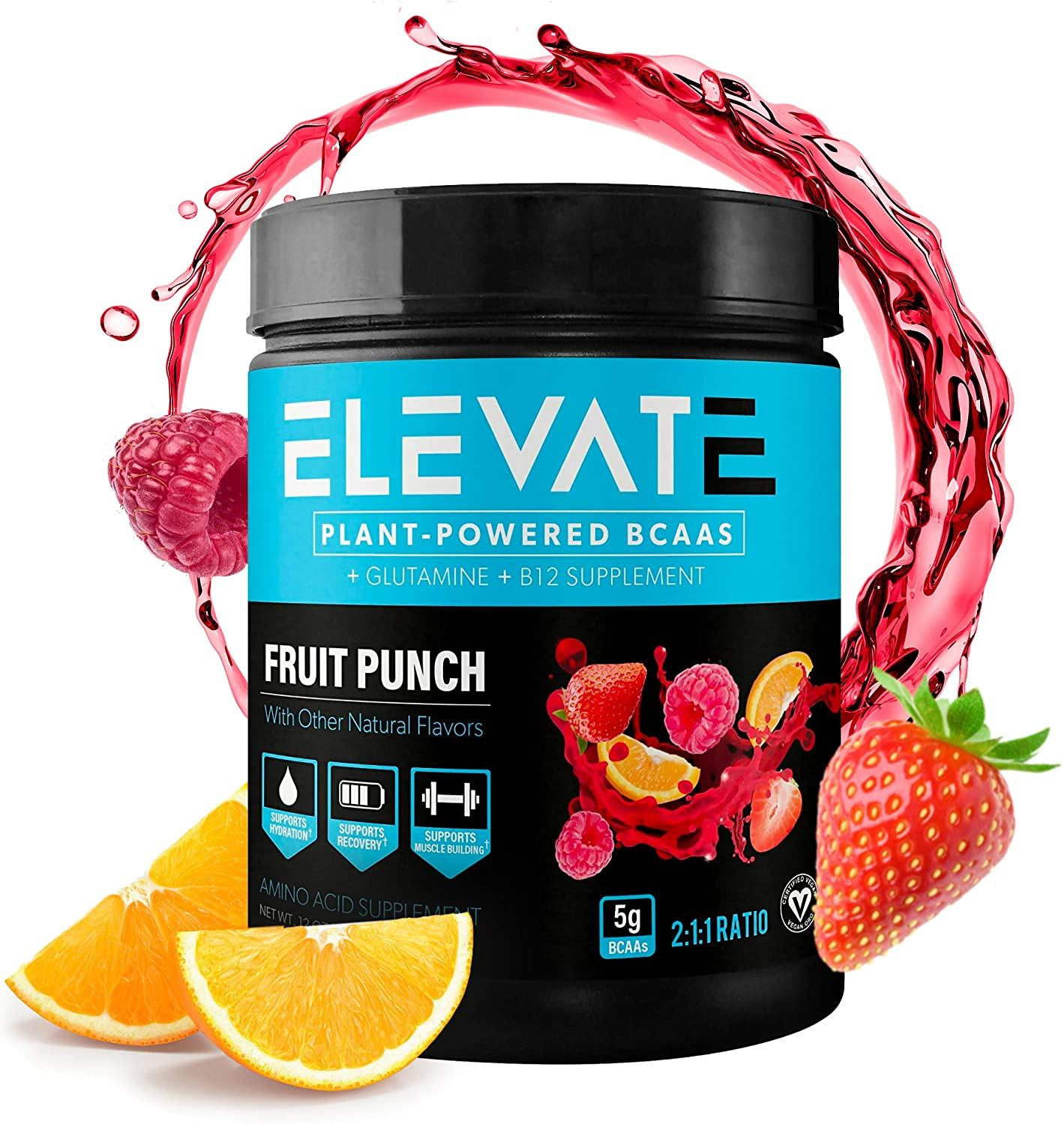 plant powder bcaa powder by Elevate Nutrition 1