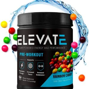 plant powdered pre workout energy powder by Elevate Nutrition
