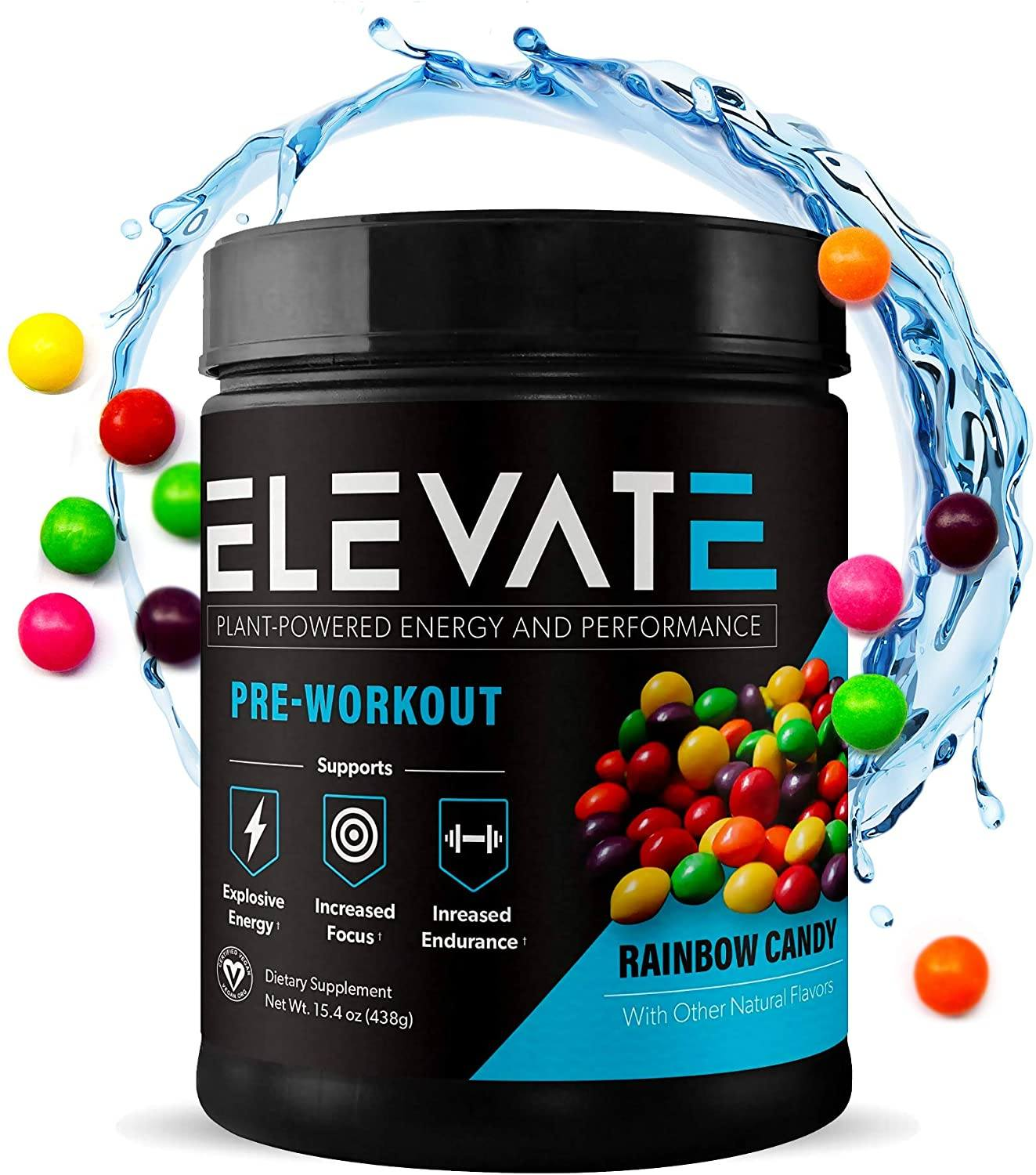 plant powdered pre workout energy powder by Elevate Nutrition 1