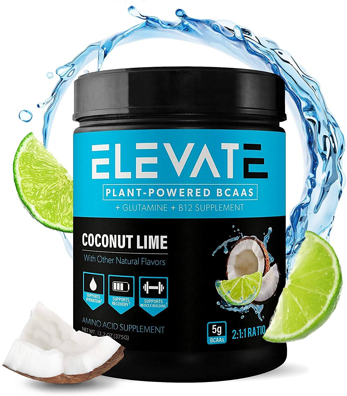 plant powered BCAA powder coconut lime by Elevate Nutrition 1