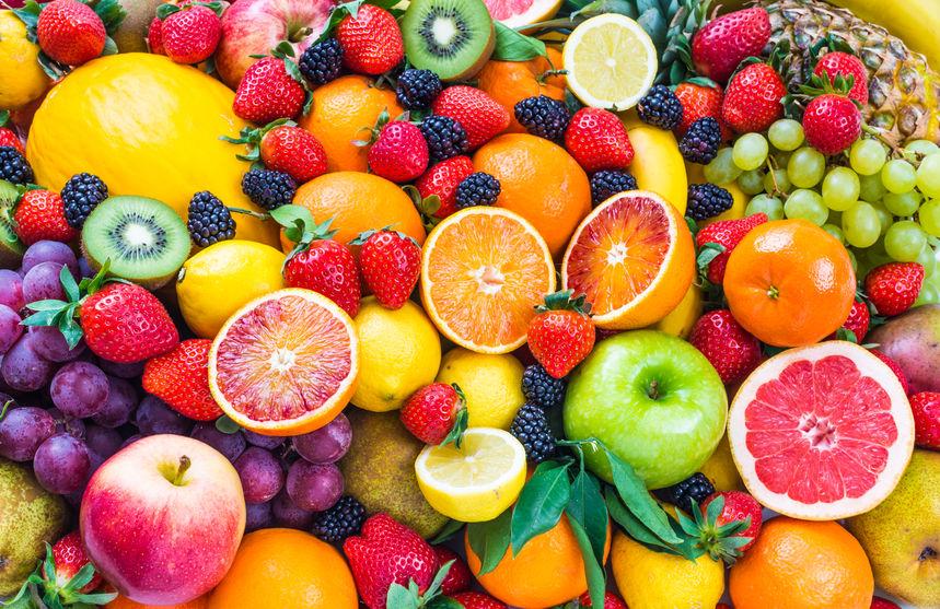 58901838 fresh fruits fruit background